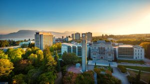 An aerial view of UBC campus.